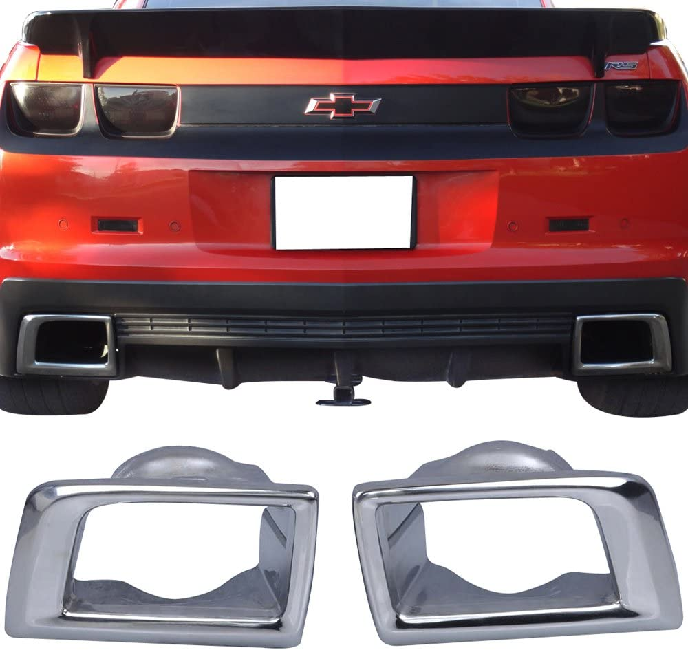 Rear Bumper Lip Spoiler With Muffer Tip Compatible With 2010-2013 Chevy Camaro Factory Style Black PU by IKON MOTORSPORTS