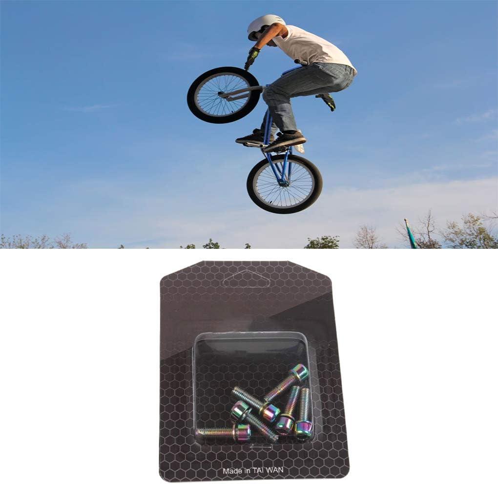 Set de la Bicicleta de monta/ña Bulbo Tornillo de Potencia de Materiales de Tornillo de Acero M5x18mm MTB Headset Inoxidable Perno roscado ciclismo1 Boburyl 6pcs