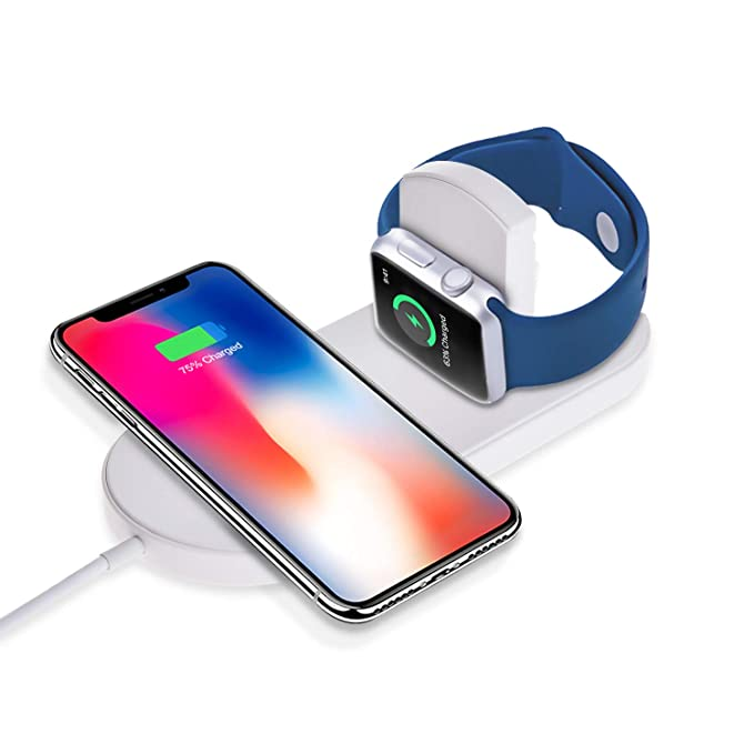 newest 8fc12 2fc11 Sararoom Wireless Charger Compatible for iPhone and Watch 2/3, Fast  Wireless Charging Pad Compatible for iPhone 8/8 Plus/X/XS iWatch Samsung
