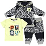 Baby Boy Outfit, Cute Sweatshirt, T-Shirt & Pant Set, Ideal Clothes For Little Boys.
