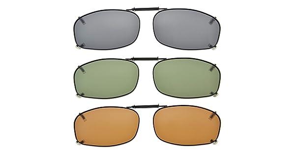 42891e50c61 Eyekepper Grey Brown G15 Lens 3-pack Clip-on Polarized Sunglasses 2 3 16