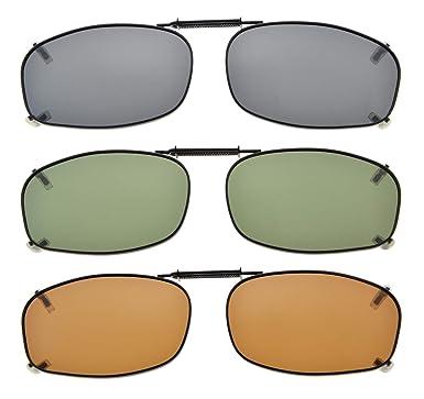 a6522ea0c32 Amazon.com  Eyekepper Grey Brown G15 Lens 3-pack Clip-on Polarized  Sunglasses 2 3 16