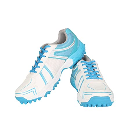Vector X Target Cricket Shoes (White-Sky Blue) Cricket Footwear at amazon