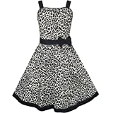 KN14 Girls Dress Leopard Print Summer Beach Size 9-10