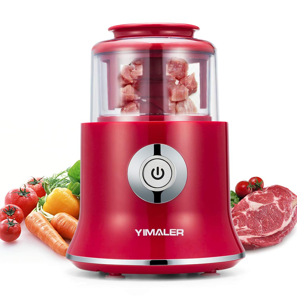 Yimaler Mini Food Chopper, Electric Kitchen Food Processor Meat Grinder for Vegetable Salads Onions Garlic Nuts Meat Mincer Meal Prep with Detachable Blades