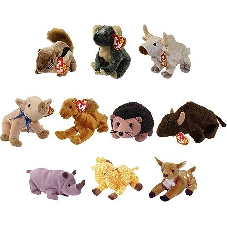 Amazon.com  TY Beanie Babies - WILD ANIMALS  2 (Set of 10)(Chipper ... 27f6bcea9c7e