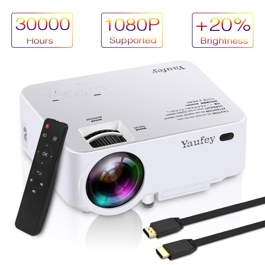 yaufey LCD Mini Proyector, 1080p HD Multimedia Home Theater ...