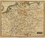1825 School Atlas   Germany. Philad., Published by M. Carey & Son, 1820. (1825)   Antique Vintage Map Reprint