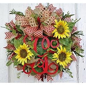 Summer Wreath - Fall Door Wreath - Sunflower Wreath - Summer Door Wreath 58