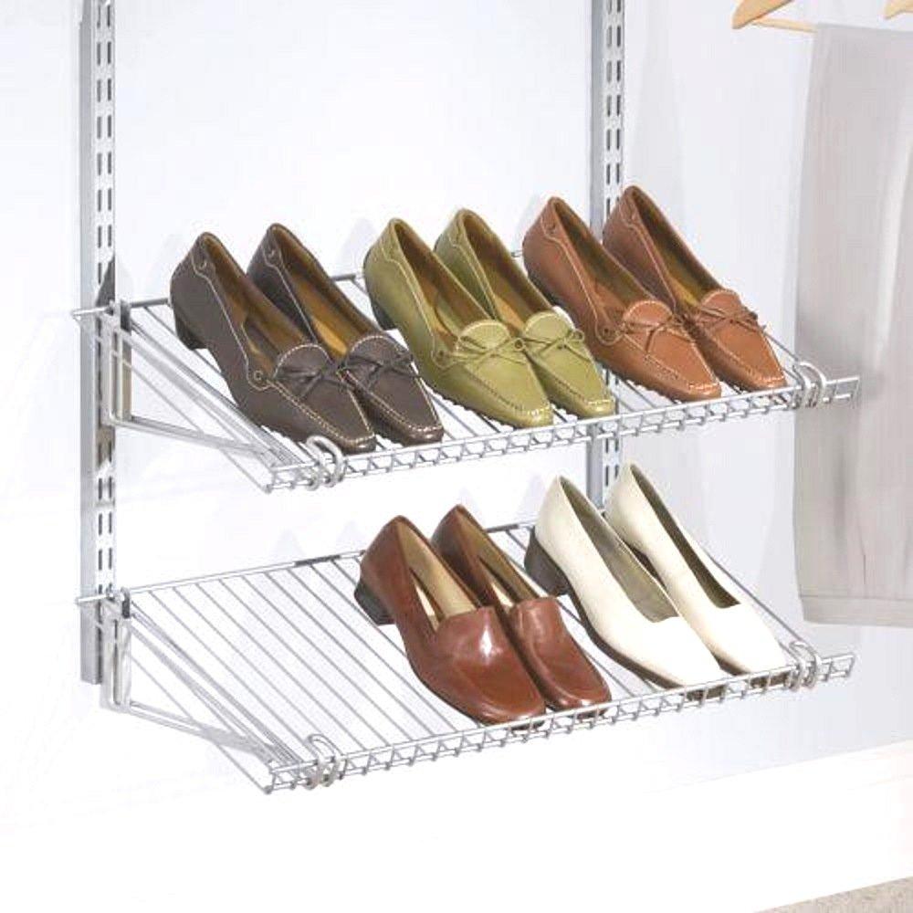 Rubbermaid Configurations Shoe Rack - 26'' x 13'' - - Titanium - 2 Pack