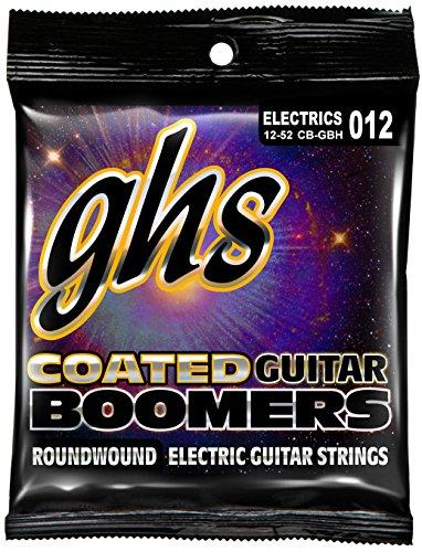 GHS Strings CB-GBH Coated Boomers Nickel Electric Guitar Strings, (Boomers Heavy Electric Guitar Strings)