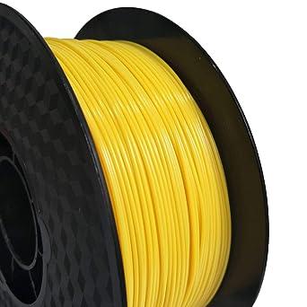 Filamento para impresora 3D, 1,75 mm, filamento PETG (amarillo), 1 ...