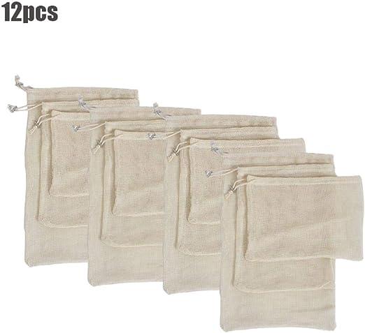 Womdee Reusable Produce Bags, Reusable Mesh Produce Bags, Organic ...