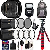 Nikon AF-S FX NIKKOR 50mm f/1.8G Lens with Auto Focus + Nikon 4814 SB-500 AF Speedlight (Black) for Nikon DSLR Cameras with Accessory Kit