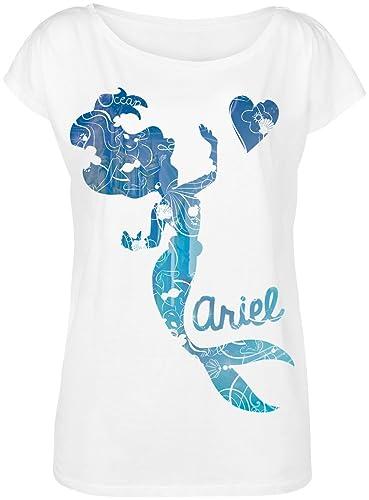 Ariel La Sirenita Underwater Camiseta Mujer Blanco