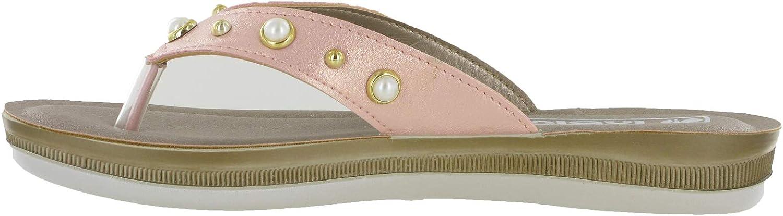 Sandali da donna piatti Slip On Toe Post imbottito estate comfort scarpe UK 2.5-8
