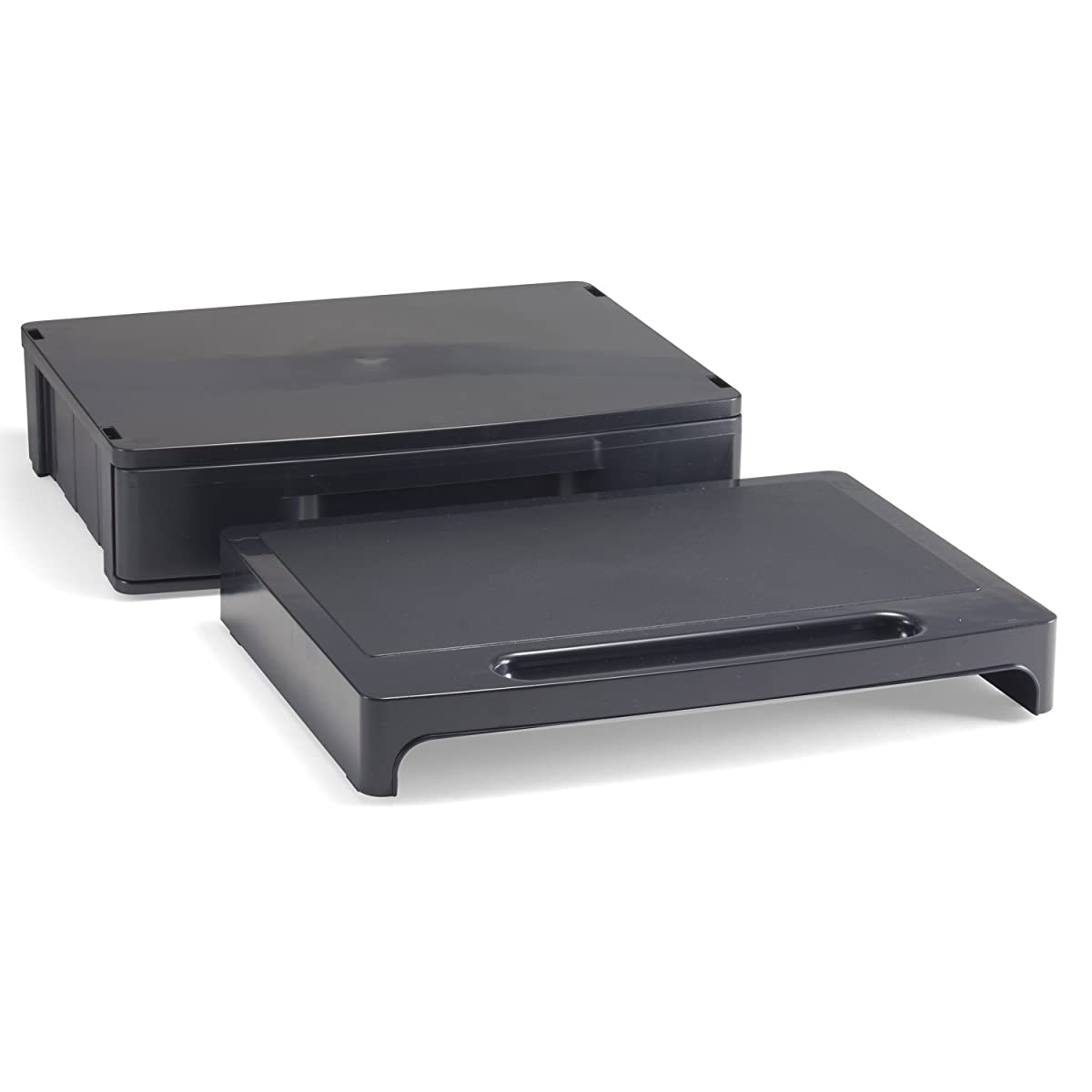 Officemate 2200 Series Executive Monitor Stand with Drawer, Black (22502)