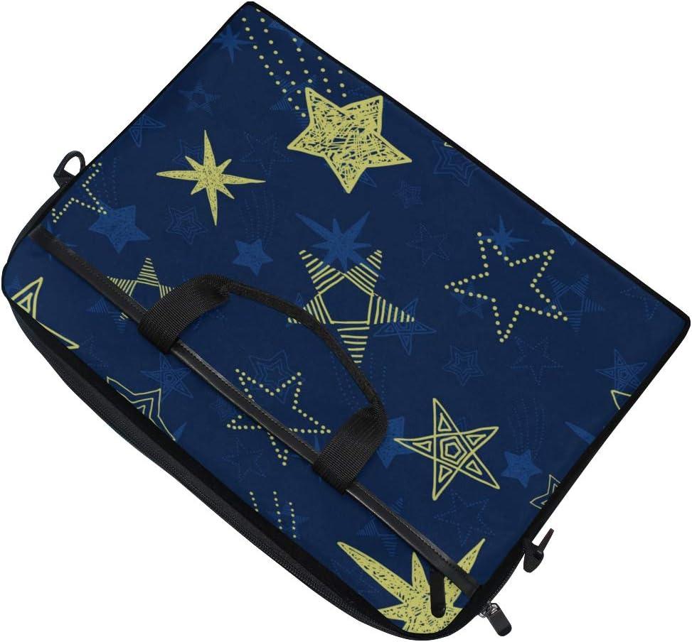 Laptop Bag Blue Sky Stars 15-15.4 Inch Laptop Case College Students Business People Office Workers Briefcase Messenger Shoulder Bag for Men Women