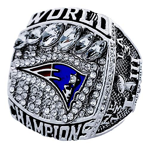 Super Bowl New England Patriots 2019 Championship Replica Ring World Champions Rings Size 8/9/10/11/12/13 (13)