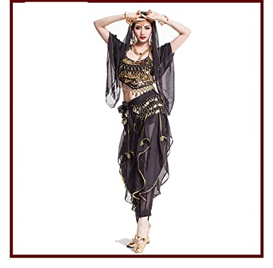 Amazon com: 2018 Women Dancewear Sari Belly Dance Costume