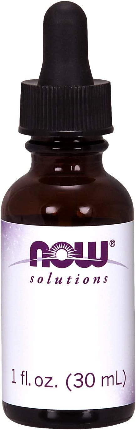 NOW Solutions, Amber Glass Bottle with Dropper and Blank Label, Designed for Custom Blends and DIY, 6 Units 1-Ounce Bottles