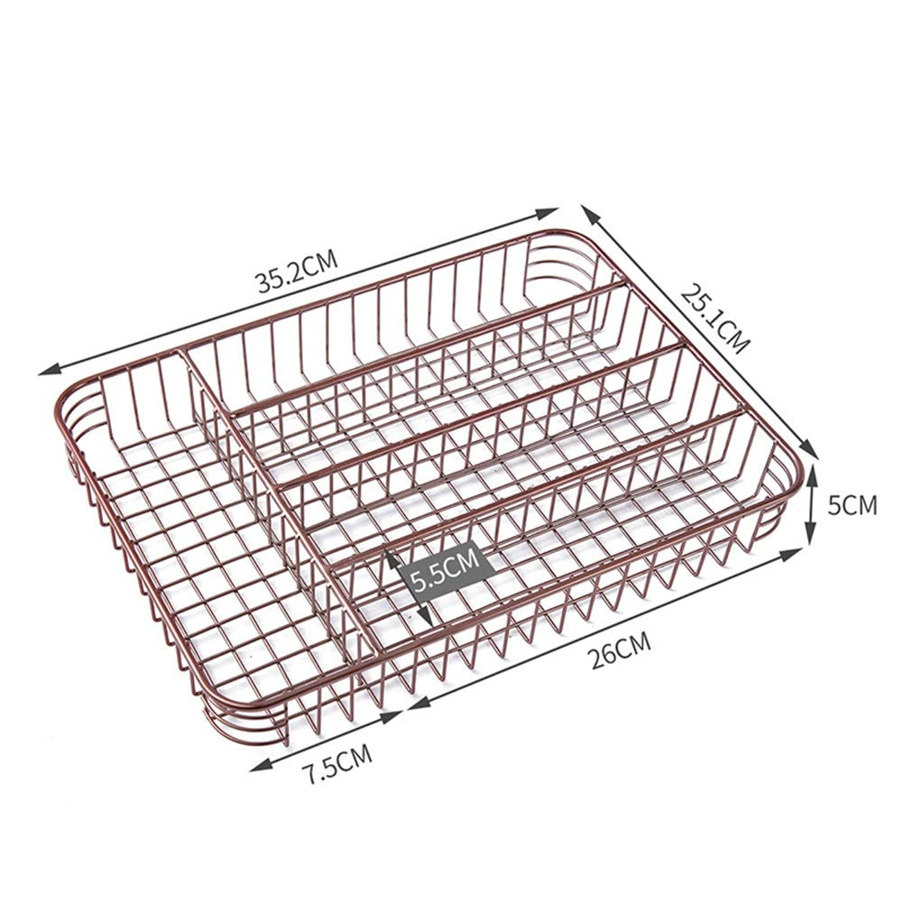 Shelf Storage Racks Pot Rack Storage Basket Shelf Baskets Cutlery Cage Storage Box Chopsticks Kitchen Drain Basket Rectangular Knife and Fork Basket ZHAOYONGLI by ZHAOYONGLI-shounajia (Image #4)
