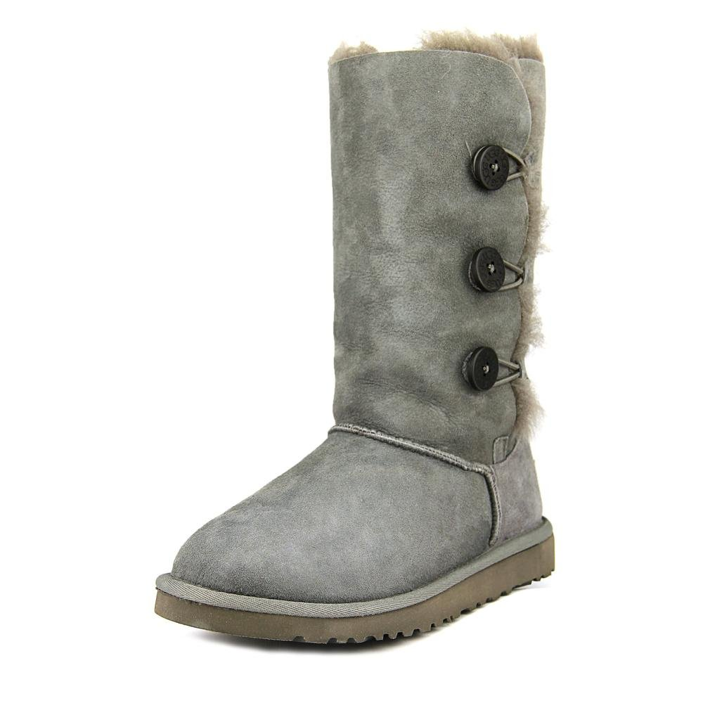 UGG Australia Children's Bailey Button Triplet Little Kids Shearling Boots,Grey,US 1 Child US by UGG