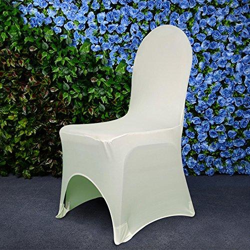 Homdox Universa 100pcs White Chair Covers Spandex/Lycra M...