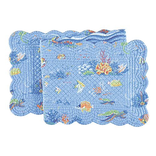 14X51 Inches Quilted RUNNER, REEF PARADISE