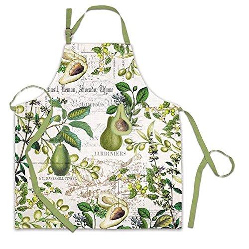 Michel Design Works Cotton Chef Apron, Avocado