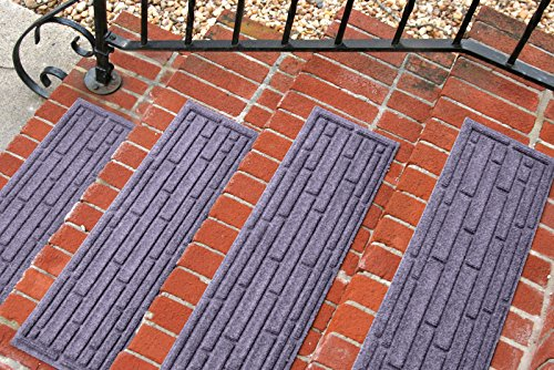 Aqua Shield Broken Brick Stair Treads, 8.5 by 30-Inch, Bluestone, Set of 4 (Outdoor Patio Brick Flooring)