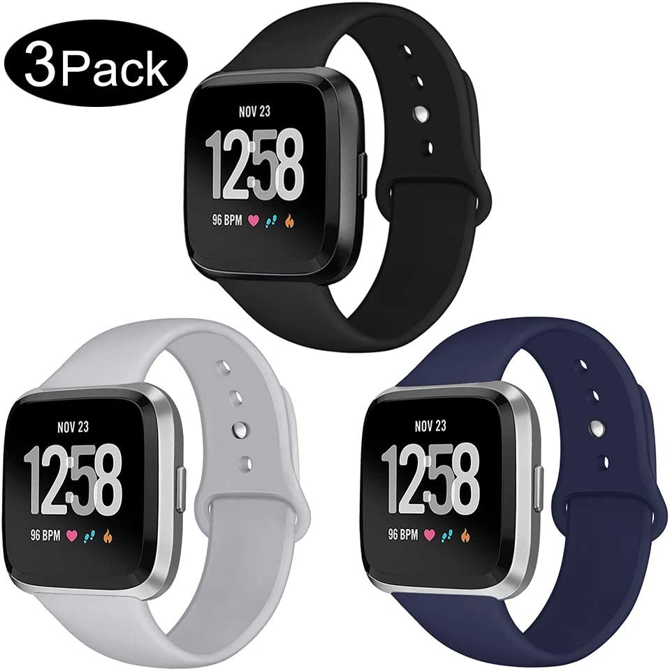 Soft Silicone Strap Replacement Wristband for Fitbit Versa Smart Fitness Watch Kmasic Sport Strap Compatible Fitbit Versa//Versa 2 Large Small Versa Lite