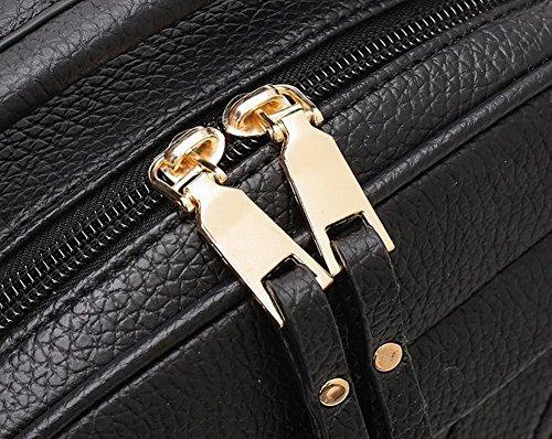 Bags Black Fashion Cross Women Pu Agoolar Casual Bags Pompoms Shoulder 7Zc6UHR