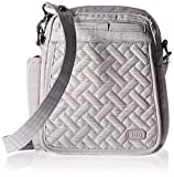 Lug Women's Flapper Cross Body Bag, Brushed Silver, One Size