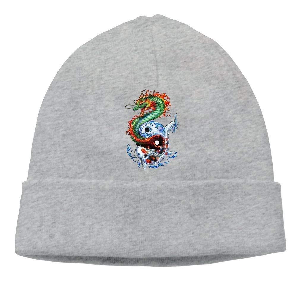 BUZRL Fashion New Cap Hat Unisex Beanies Caps Dragon Skull Hats Soft Hedging Cap
