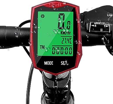 DOOK Inalámbrico Impermeable Cuentakilómetros para Bicicleta,Auto ...