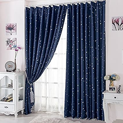Amazon.com: Curtain for 100% Blackout Cortinas para Sala for Living Room Flat Window Curtains Drape (Only 1 Piece/lot): Home & Kitchen