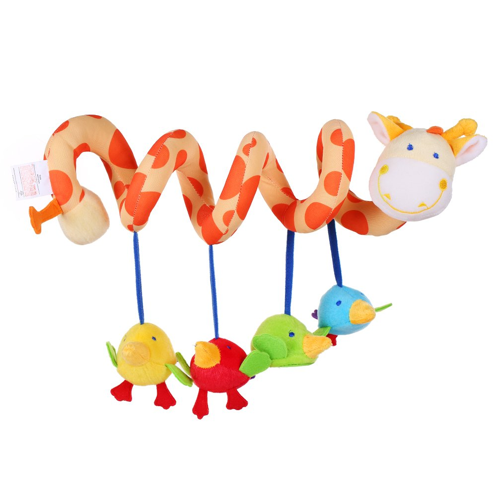 Crib activity toys for babies - Amazon Com Elenker Giraffe Baby Crib Toy From Wrap Around Crib Rail Toy Or Stroller Toy Favorite Baby Toys Baby