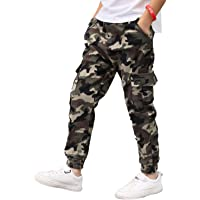 dPois Pantalones Cargo Niño Camuflaje Moda Callejera Urbana Pantalón Deportivo Hip Hop para Adolescentes Jóvenes y Niños…