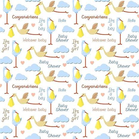 Amazon Com Laeacco 8x8ft Cartoon Baby Shower Backdrop Vinyl It S A