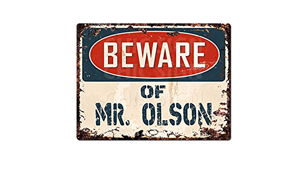 TREVINO Plate Chic Sign Home Store Wall Decor Funny Gift PP4063 Beware of MR