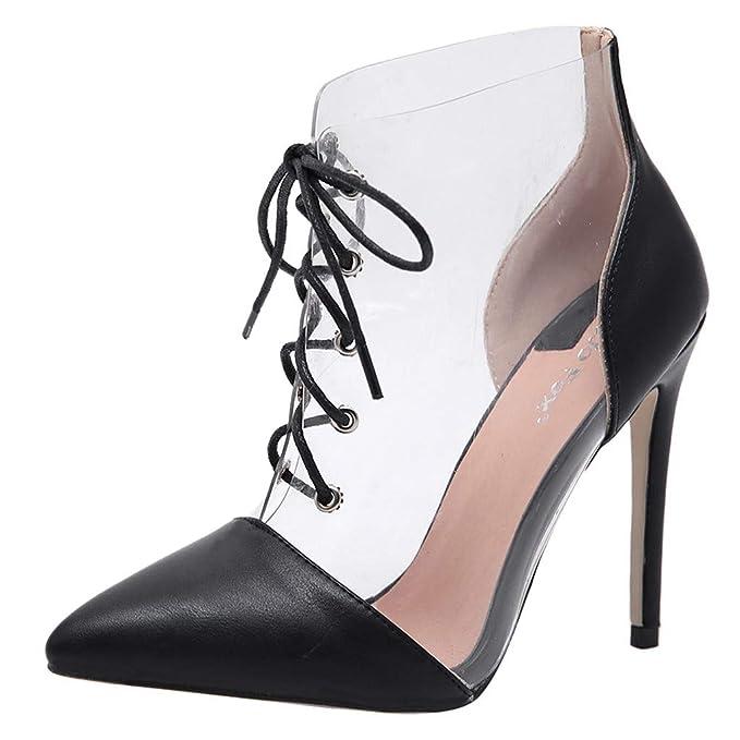 Amazon.com  Womens Chunky Low Heel Pump Sandals Ankle Strap Dress ... 476029d04