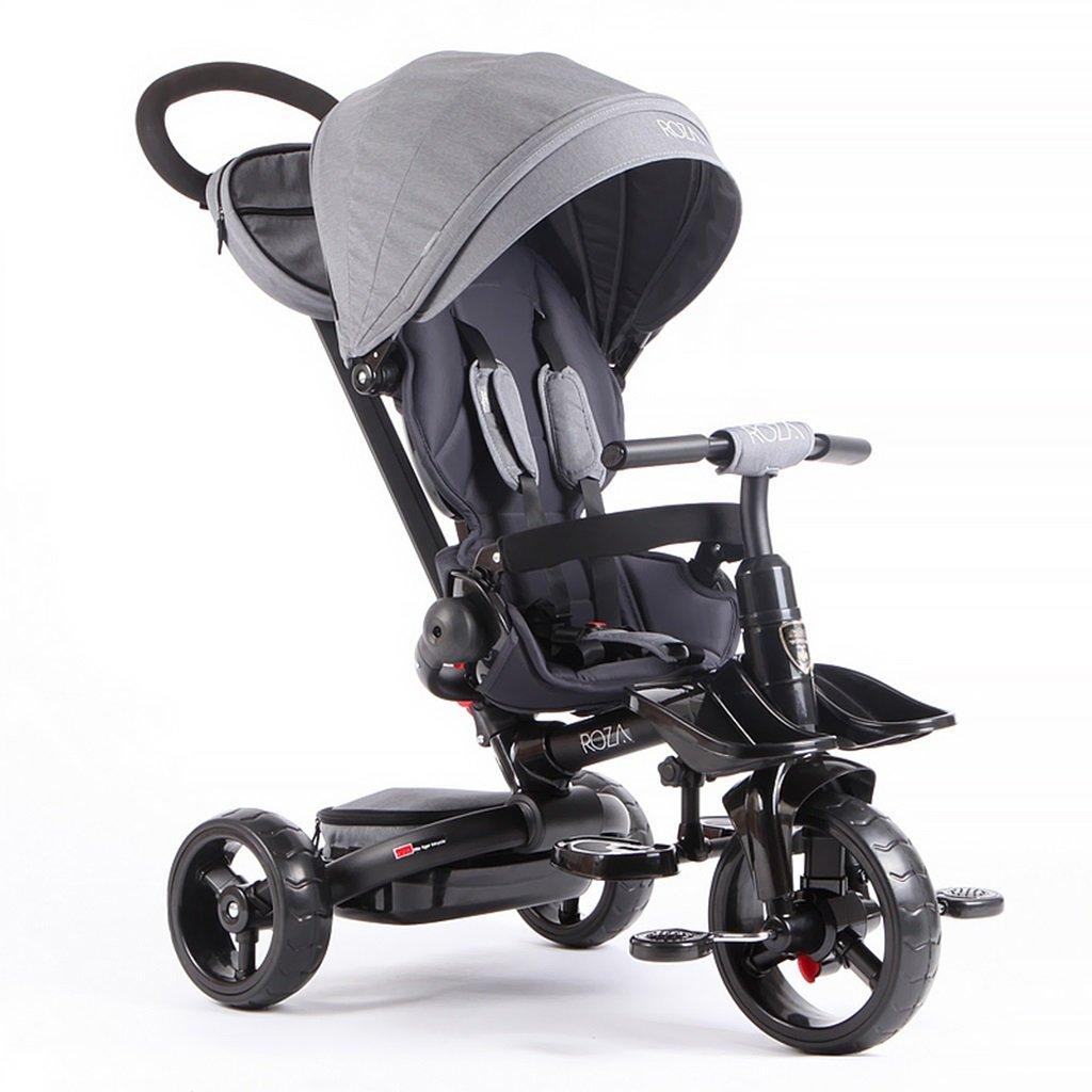 XQ T600子供用三輪車自転車キッズバイク0-5歳パターシートベルト強い陰影 子ども用自転車 B07CCKP9NN