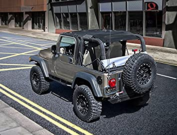 Jeep Bimini Top >> Rugged Tuff Tuffshade Jeep Wrangler Tj Full Mesh Sun Shade Cover Safari Bikini Top 1997 2006 Features Stowaway Pockets Uv Protection 5 Year Warranty