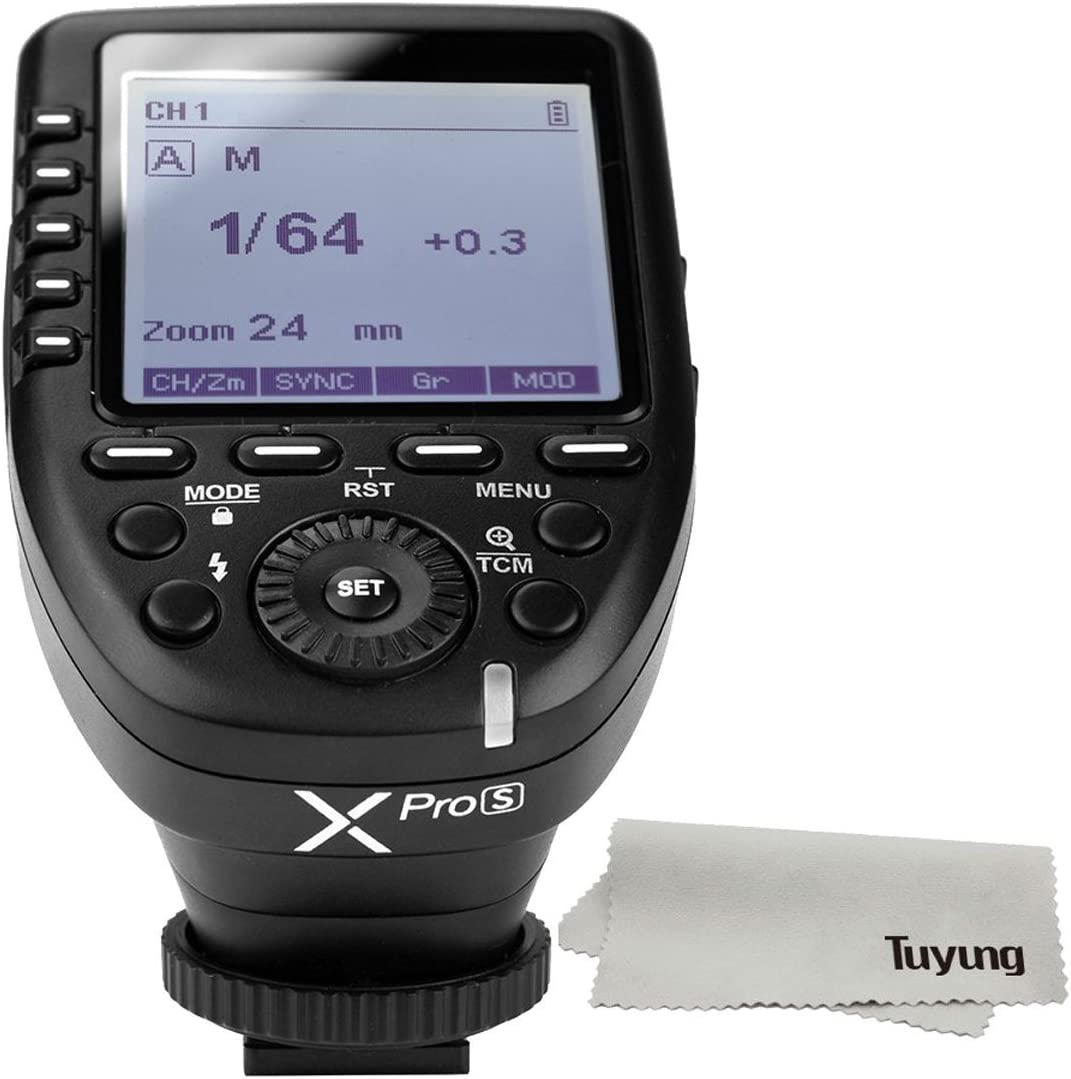 Godox XPro-S 2.4G TTL Wireless Flash Trigger Wirless X System High-Speed with Big LCD Screen Transmitter for Sony Camera+LETWING Cloth