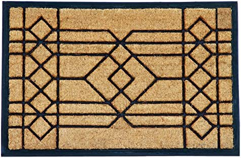 Calloway Mills 153502436 Windgate Doormat, 24 x 36 x 1 , Natural Black