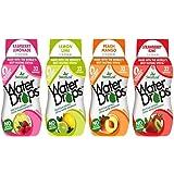 SweetLeaf Water Drops Stevia Water Enhancer 4 Flavor Variety Bundle, 1 Ea: Raspberry Lemonade, Lemon Lime, Peach Mango, Strawberry Kiwi: