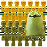 26 Yellow & Tan Tournament Style Foosball Men with Free Screws & Nuts in Billiard Evolution Drawstring Bag