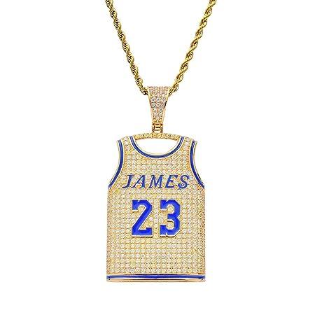 Colgante de Hip-Hop, No. 23 Jersey Hombres Collar James Cadena Fan ...