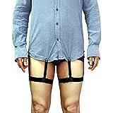 Demana Generic 1 Pair Mens Adjustable Invisible Shirt Stay Shirt Garter Belt Non-slip Clamps Accessories